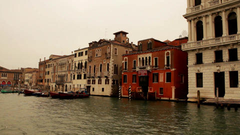 Ride on a boat through venice Canale Grande Footage