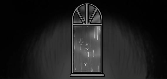 Scary Window with storm outside Animation