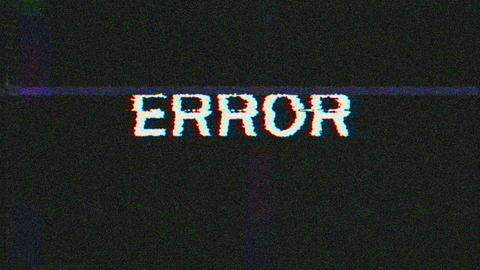 Vhs Noise Error 애니메이션