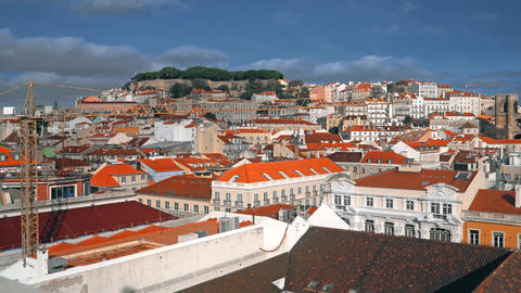 Lisbon Panorama. Aerial view. Lisbon is the capital and the largest city of Image