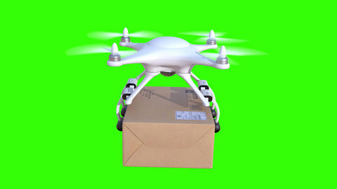Quadcopter delivers a package Animation