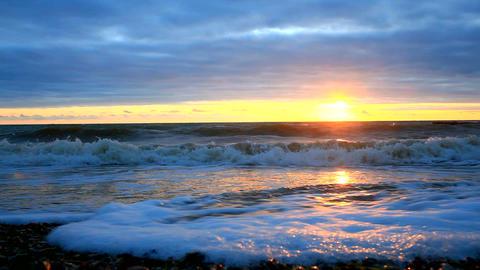 Sunset on the beach Archivo