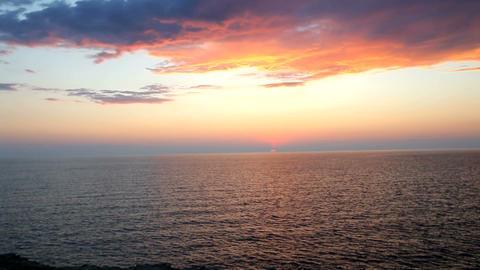 Sunset on the beach Footage