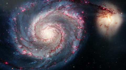 Rotating spiral galaxy. deep space exploration. star fields and nebulas in space Footage
