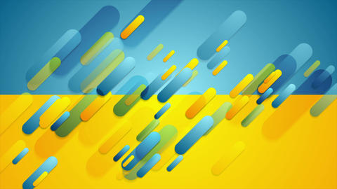 Blue and yellow contrast tech corporate video animation Animation