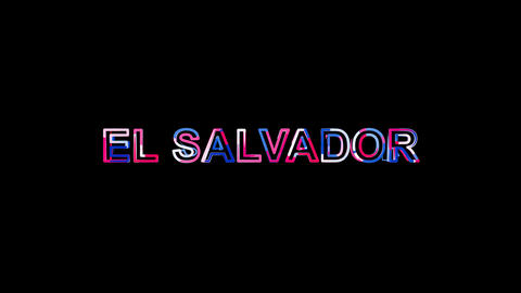 Letters are collected in country name EL SALVADOR, then scattered into strips Animation