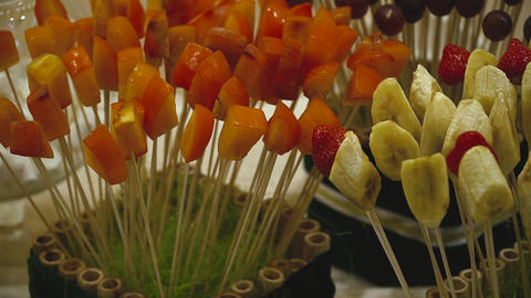 Candy Bar Wedding, candy buffet, chocolate fountain, cakes Footage