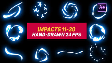 Liquid Elements Impacts 11-20 After Effects Templates