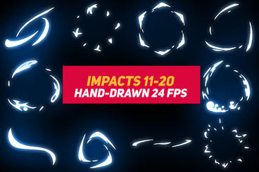Liquid Elements Impacts 11-20 After Effects Template