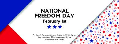 National freedom day. Vector banner Vektorgrafik