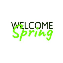 Welcome spring inscription. Vector lettering card Vector