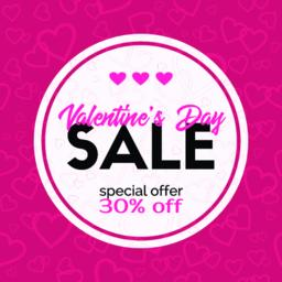 Sale banner. Valentines Day discount card Vector