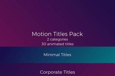 30 Motion Titles Pack Premiere Proテンプレート