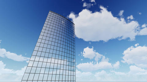 Skyscraper Corporate buildings and clouds ビデオ