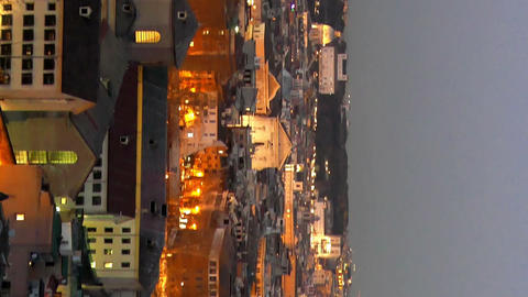 Vertical video. Rome by night. Italy Live Action