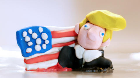 Donald trump figurine that melts Footage