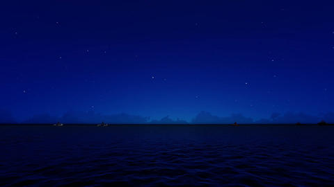 In the Night Cargo ships sailing from open sea Footage