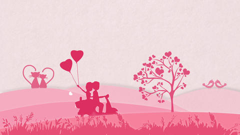 Valentine Background Pink Animation