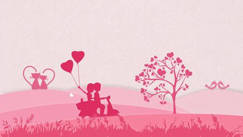 Valentine Background Pink GIF