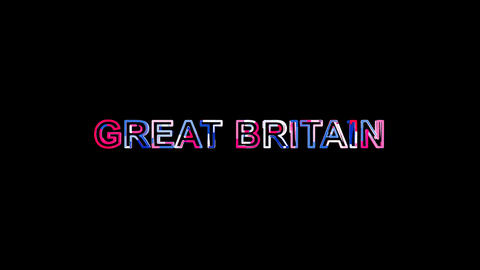 Letters are collected in country name GREAT BRITAIN, then scattered into strips Animation