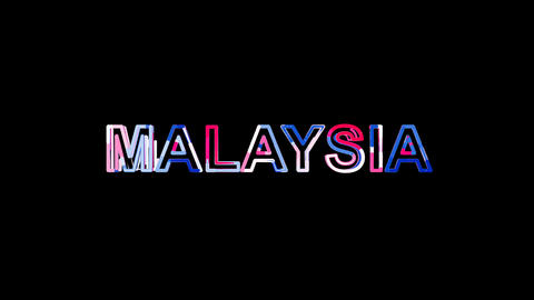 Letters are collected in country name MALAYSIA, then scattered into strips Animation