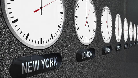 Accurate Clocks with Different Time Zones for Each Capital Bild