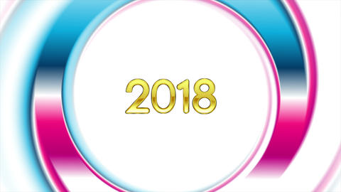 Blue pink ring New Year 2018 video animation Animación