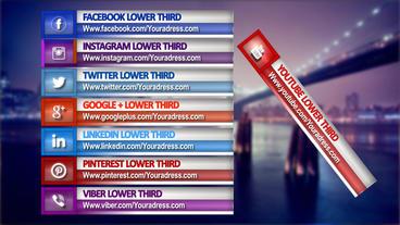 Social Network Lower Thirds After Effects Templates