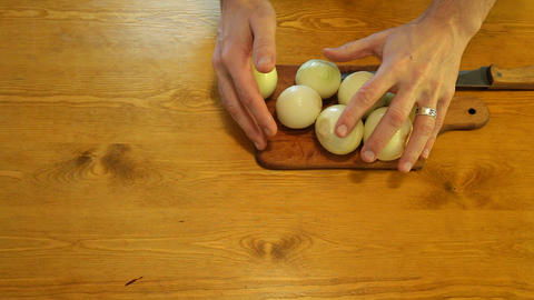 sliced onions for cooking Footage