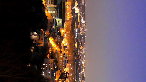 Vertical video. Rome by night. Panorama. Italy Live Action