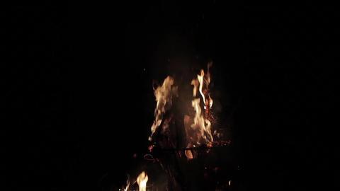 Flames Of A Campfire At Night 50p Image