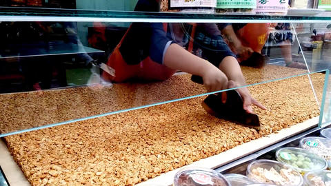 Taiwanese Street Store Peanut Snack stock footage