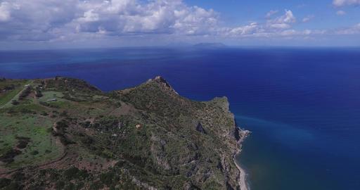 Coastline With Rocks Over The Sea Footage