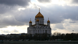 4k Moscow - Russia. Christ Savior Cathedral - main russian orthodox church. Dram Footage