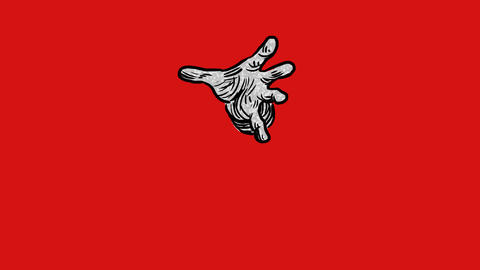 Rotoscoped hand bursting outwards Animation