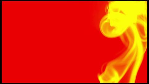 MVI 5111 yellow smoke red background Footage