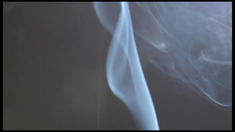 Smoke & Fume (Reel) On A Gray Background. Fire Not In Shot stock footage
