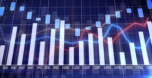 Business chart - success in business Stock Video Footage