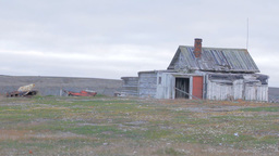 Nenets Hunting hut in distant tundra, Vaygach island Footage