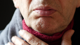 Ill Man Suffers Cold Symptoms stock footage