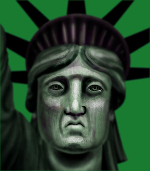 Crying Statue of Liberty Animation