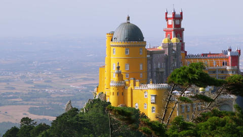 Pena Palace in Sintra Footage