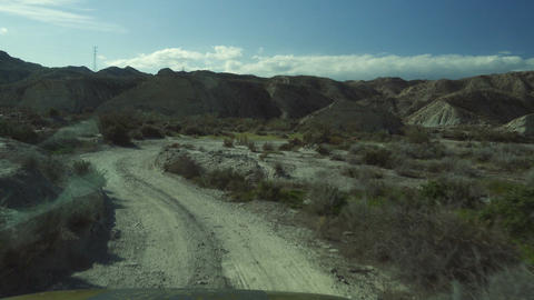 Offroad in Desierto De Tabernas with a Jeep Wrangler, Andalusia, Spain Live Action