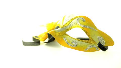 Yellow venetian masks Footage