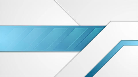 Blue and grey geometric corporate motion background Animation