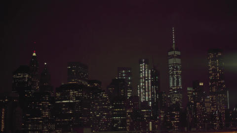 view night NYC Footage