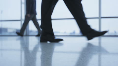 Business People Walking in Office Building Footage