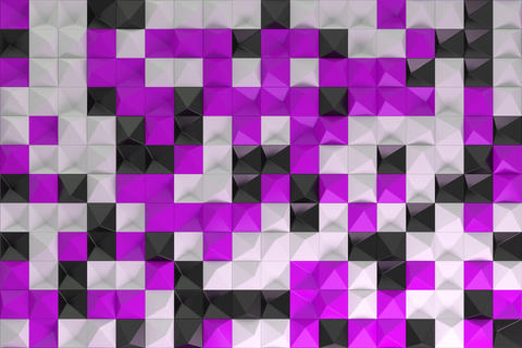 Pattern of black, white and violet pyramid shapes Foto