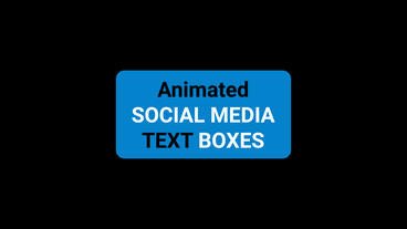 Social Media Text Boxes Motion Graphics Template