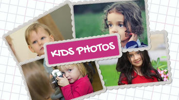 Kids Photos: Template for Apple Motion 5 and Final Cut Pro X Apple Motionテンプレート